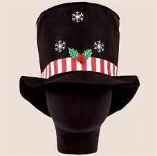 CHRISTMAS TOP HAT WITH LIGHTS